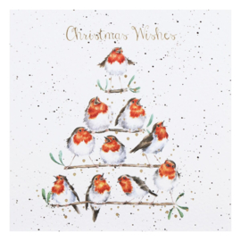 """Wrendale Boxed Christmas Cards  """"Rockin' Robins"""""""