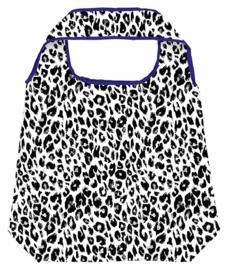 Opvouwbare shopper - leopard