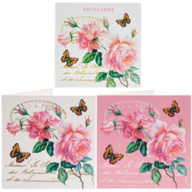 Redoute Rose notecards