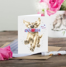 """Wrendale mini card """"Special Delivery"""" - hond"""