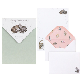 """Wrendale Letter Writing Set """"Feline Good"""" - poes"""