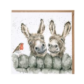 "Wrendale greeting card - ""Hee Haw"" - ezel"