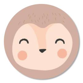 Tante Kaartje sticker 50mm - Faces - Aap - per 10