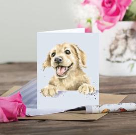 "Wrendale mini card ""Golden Boy"" - hond"