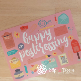 Ansichtkaart - happy postcrossing