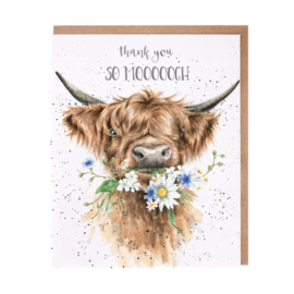 "Wrendale greeting card ""Thank You So Moooch!"" - hooglander"