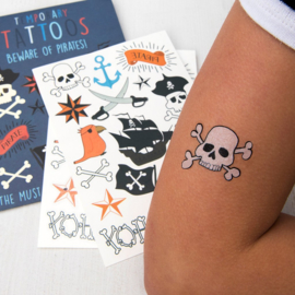 Plak tattoos - piraten
