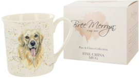 Bree Merryn fine china mok - Gwenn Golden Retriever