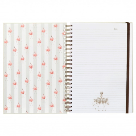 """Wrendale A4 Notebook """"Pretty in Pink"""""""
