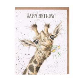 "Wrendale greeting card ""Happy Birthday"" - giraffe"