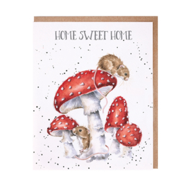 """Wrendale greeting card """"Home Sweet Home"""" - muis"""