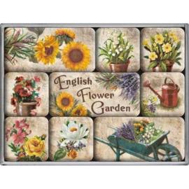 Magneetset - English Flower Garden