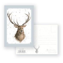 """Wrendale postcard """"Portrait of a Stag"""" - hert"""