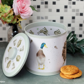 Wrendale Biscuit Barrel - hare/owl/duck
