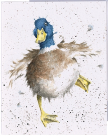 "Wrendale mini card ""A Waddle and a Quack"" - eend"