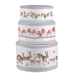 Wrendale Cake Tin Nest - Christmas