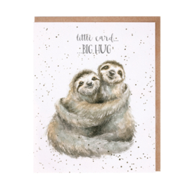 "Wrendale greeting card ""Little Card, Big Hug"" - luiaard"