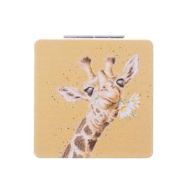 """Wrendale compactspiegel """"Flowers"""" - giraffe"""