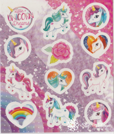 Stickervelletje unicorn