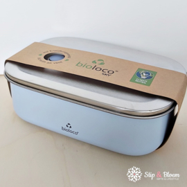 Bioloco Sky rvs lunchbox - Sky Blue