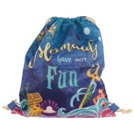 Drawstring rugzak mermaid / zeemeermin