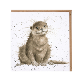 "Wrendale greeting card - ""River Gent"" - otter"