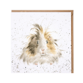 "Wrendale greeting card - ""Style Queen"" - cavia"