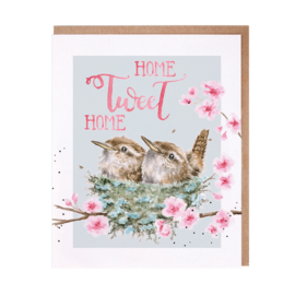 "Wrendale greeting card ""Home Tweet Home"" - vogels"