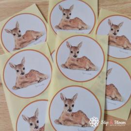 Sticker 45mm - hert - per 10