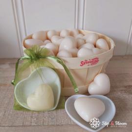 Hart zeepje - fleur de coton