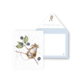 "Wrendale mini card ""Brambles"" - muis"