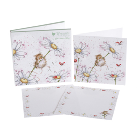 "Wrendale Notecard Pack ""Oops a Daisy"" - muis"