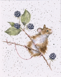 "Wrendale mini card ""Brambles"" - muis"