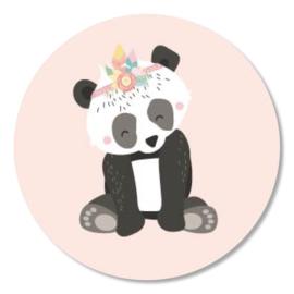 Tante Kaartje sticker 50mm - Boho Animals - Panda - per 10