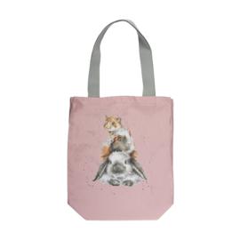 "Wrendale canvas tote bag ""Piggy in the Middle"" - konijn cavia hamster"