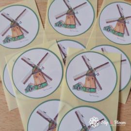 Sticker 45mm - molen - per 10