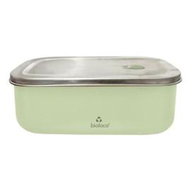 Bioloco Sky rvs lunchbox - Light Green