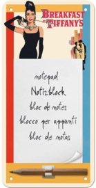 Magnetische notepad - Breakfast at Tiffany's