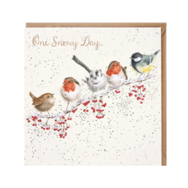 """Wrendale Christmas card - """"One Snowy Day"""""""