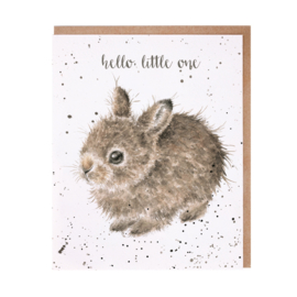 "Wrendale greeting card ""Hello Little One"" - konijn"