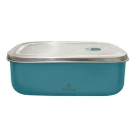 Bioloco Sky rvs lunchbox - Petrol