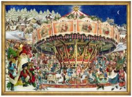 Adventskalender Kerst carrousel