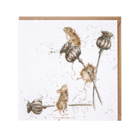 "Wrendale greeting card - ""Country Mice"" - muis"