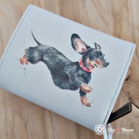 """Wrendale small purse """"Dog"""" - labrador/teckel"""