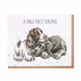 """Wrendale greeting card """"A Pawfect Couple"""" - hond"""