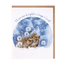 "Wrendale greeting card ""Brighter Days"" - egel"