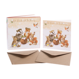 "Wrendale Christmas Card Box Set ""The Christmas Party"""