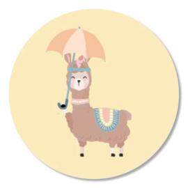 Tante Kaartje sticker 50mm - Boho Animals - Lama - per 10