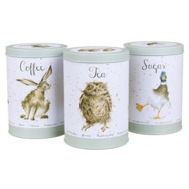 Wrendale Tea Coffee Sugar set - green