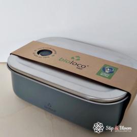 Bioloco Sky rvs lunchbox - Night Grey